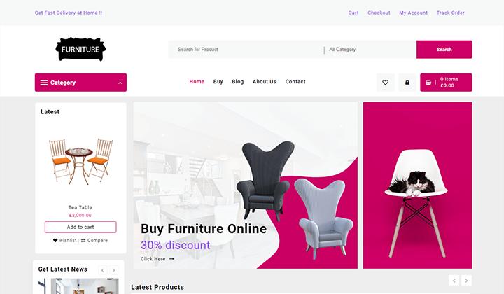 Open Shop Theme Templates furniture store