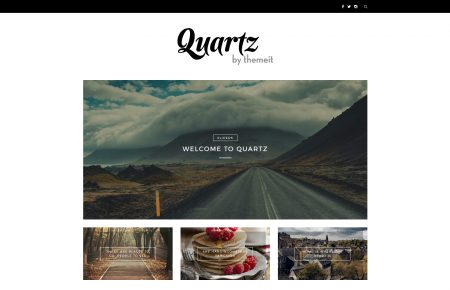 Quartz free wordpress blog theme by ThemeIt.com