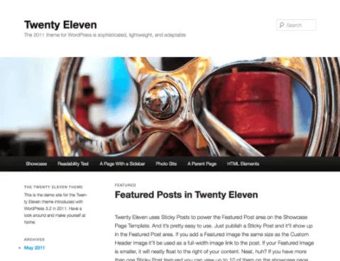 Twenty Eleven WordPress Theme