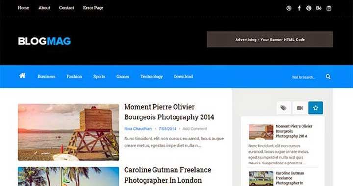 blog design template