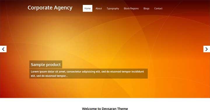 corporate Agency Drupal Theme