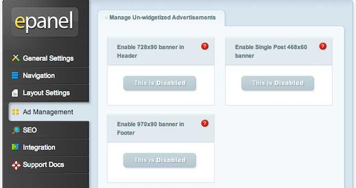 Nexus Theme Ad Management