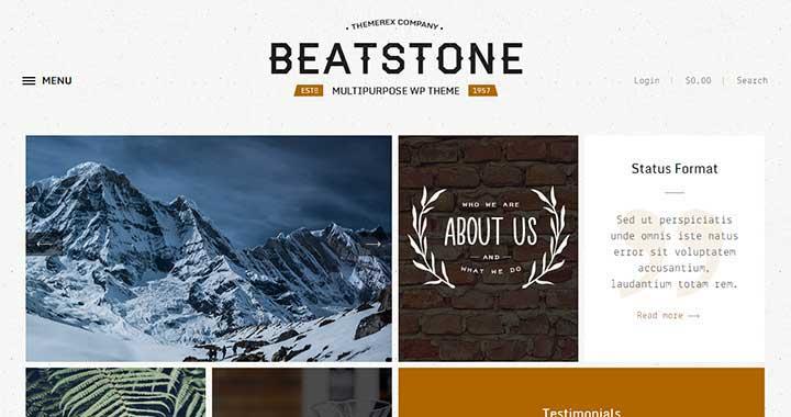 BeatStone Best WordPress Portfolio Theme