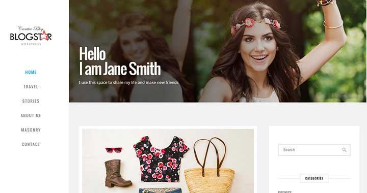 BlogStar Best WordPress Blog Themes 2015