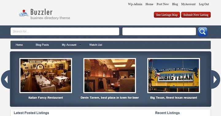 Buzzler WordPress Listing Themes