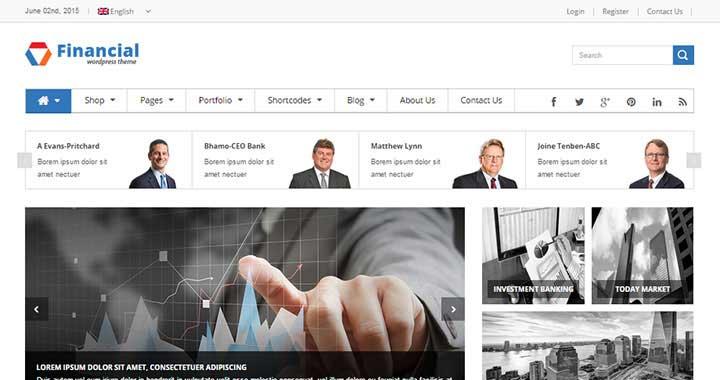 SW Financial WordPress Magazine Themes