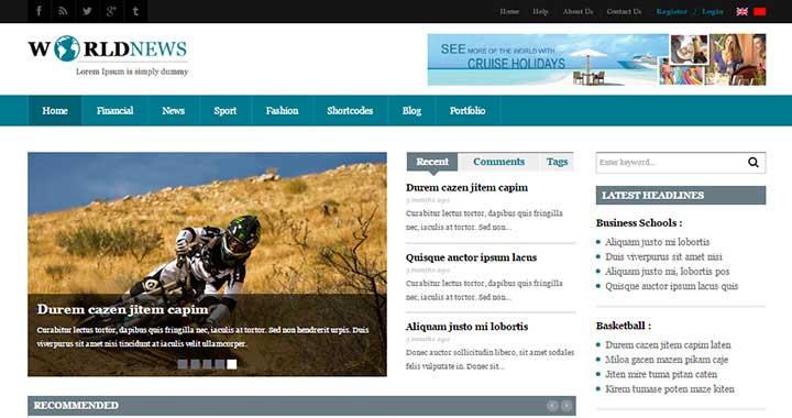 SW World News Best Magazine WordPress Themes