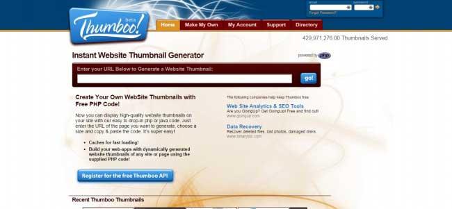 Thumboo Free Online Screenshot