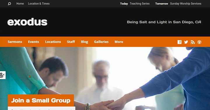 Exodus Religious WordPress Theme