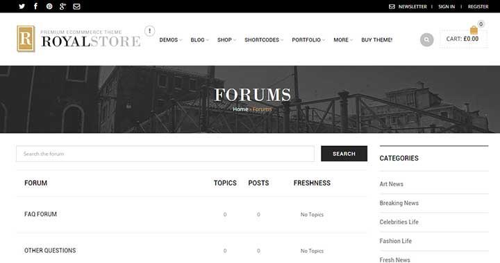 Royal WordPress Support Forum