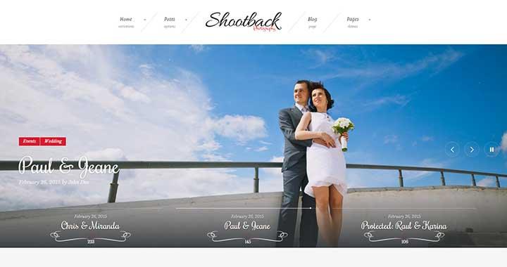 Shootback WordPress Themes for Wedding Photographers
