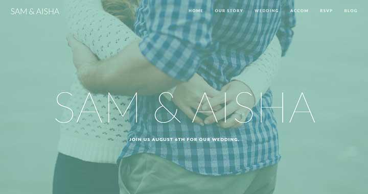 Union WordPress Wedding Site