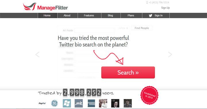 ManageFlitter twitter unfollow tool