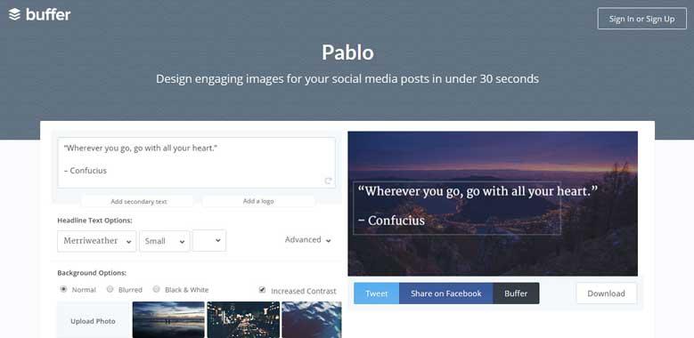 Pablo twitter application management