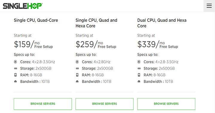 SingleHop best dedicated server provider