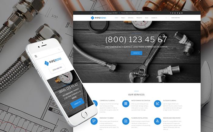 Plumber Services WordPress Theme