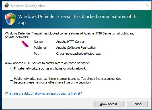 firewall-notification-installing-xampp