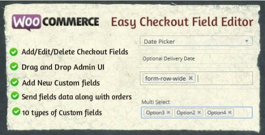 Woo-commerce Easy Checkout Field Editor
