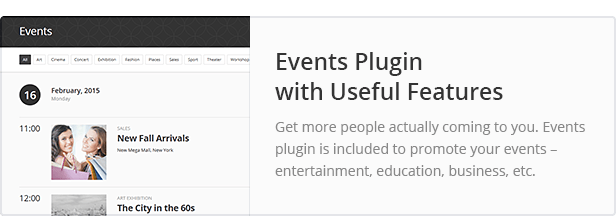 Events Plugin with Useful Features