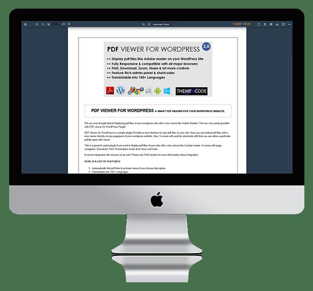 PDF viewer for WordPress 5