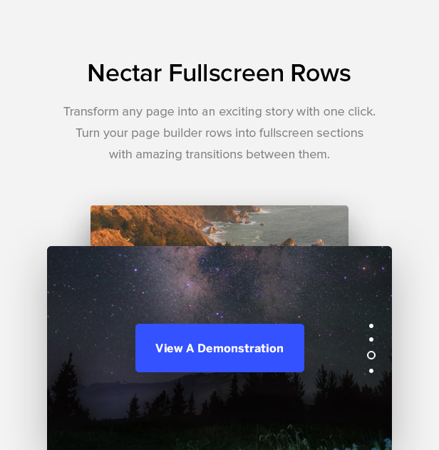 fullscreen rows