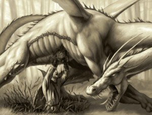 Siegfried & the Dragon, for us a fantastic story, for him, a Scion...Wednesday
