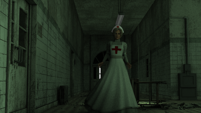 Creepy Nurse or Nice Nurse? We'll have to wait to find out...though I'm leaning towards Creepy!