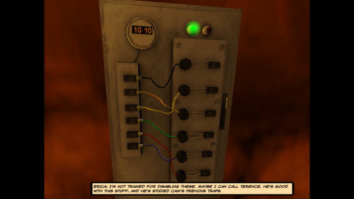 One of the first puzzles in the game, completely Power-centric, very clever and thoroughly entertaining.