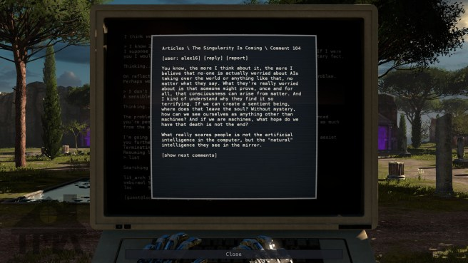 Documents in terminals can be very philosophical