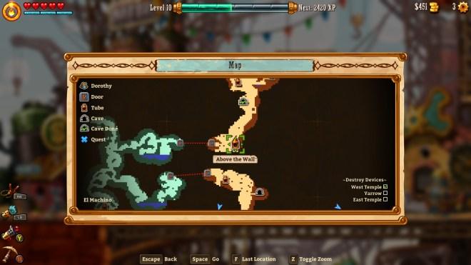 Steamworld Dig 2 - Map