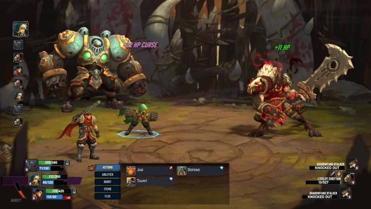 Battle Chasers - Combat
