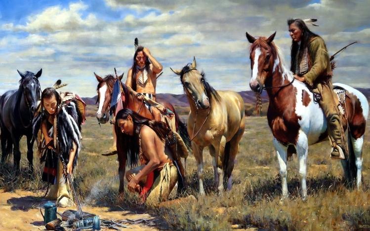 Dual Monitor Wallpaper Cool Girl Native American Windows 10 Theme Themepack Me