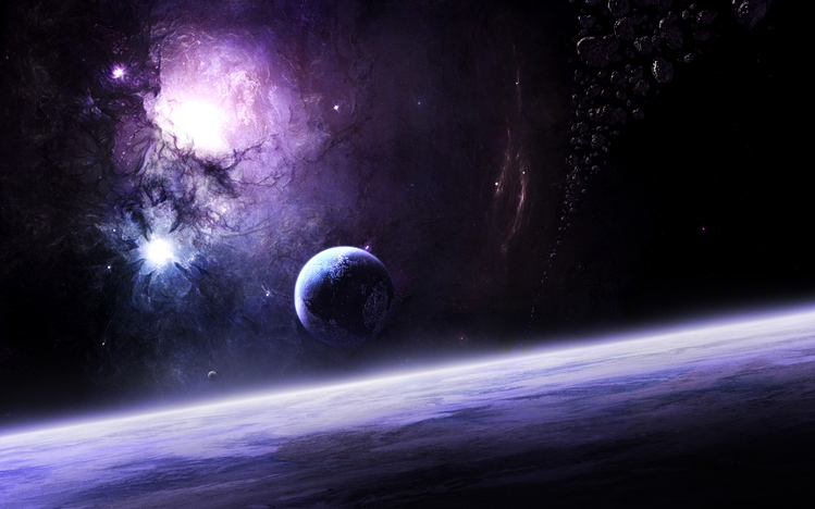 Fall Dual Monitor Wallpaper Outer Space Windows 10 Theme Themepack Me