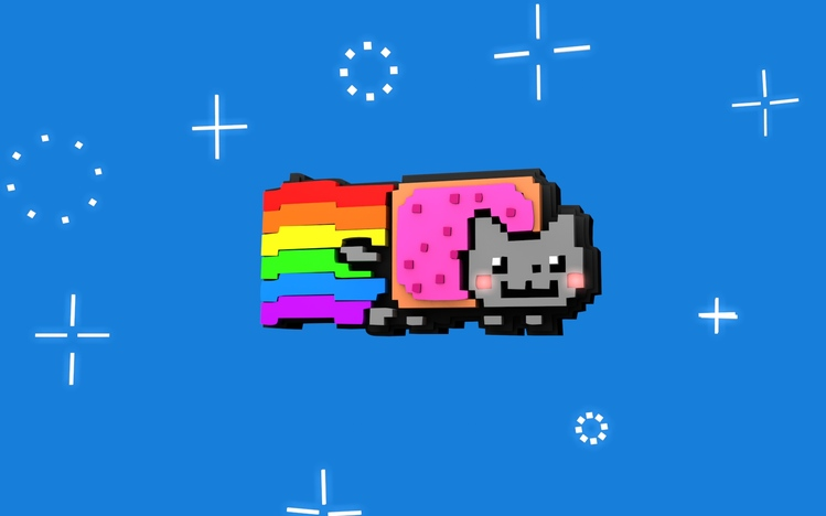 Nyan Cat Cute Wallpaper Nyan Cat Windows 10 Theme Themepack Me