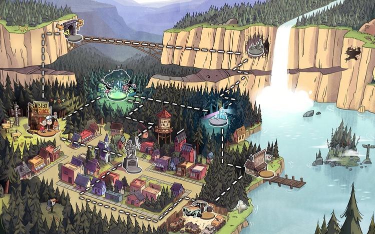 Wallpaper Pato Gravity Falls Gravity Falls Windows 10 Theme Themepack Me
