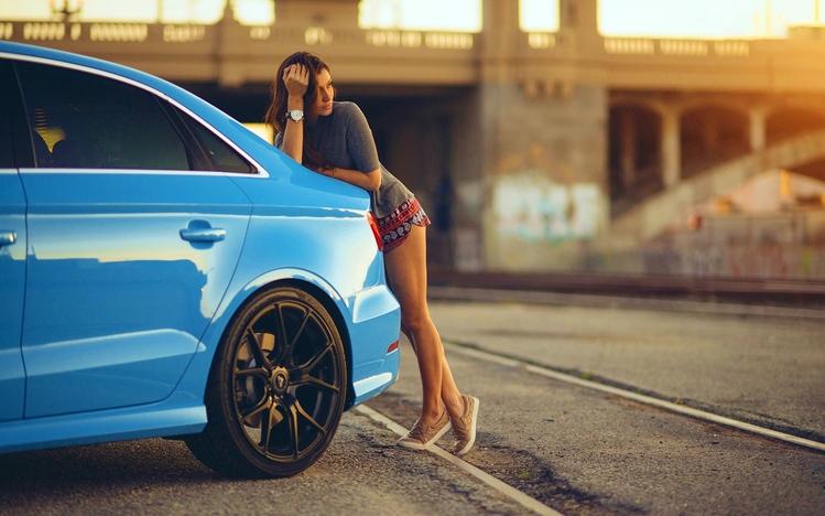 Cars Wallpaper Infront Of Skyline Girls Amp Cars Windows 10 Theme Themepack Me