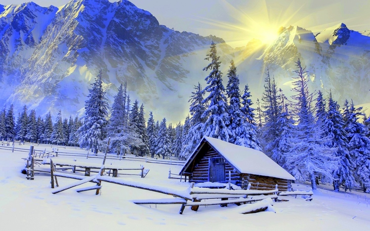 Fall Dual Monitor Wallpaper Snowy Landscapes Windows 10 Theme Themepack Me