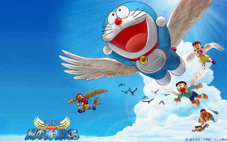 Cartoon Cute Girl Desktop Wallpapers Doraemon Windows 10 Theme Themepack Me