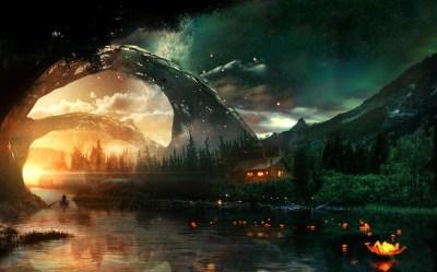 Dark Fantasy Landscape Windows 10 Theme themepack me