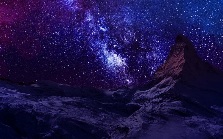starry night sky windows