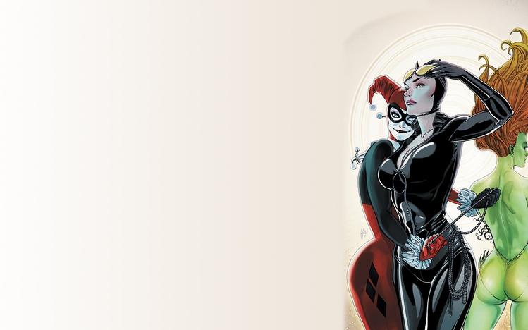 American Girl Computer Wallpaper Gotham City Sirens Windows 10 Theme Themepack Me