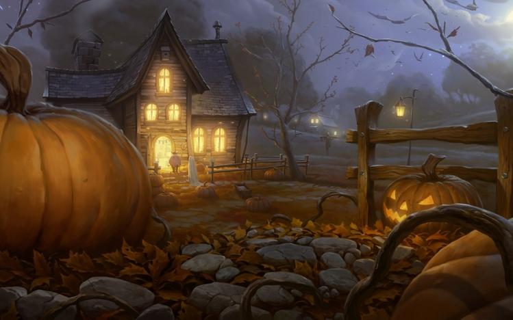 Fall Pumpkin Wallpaper Desktop Halloween Windows 10 Theme Themepack Me