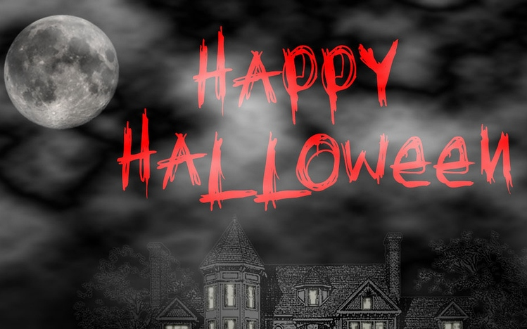 Hd Wallpaper Girl In Christmas Lights Scary Halloween Windows 10 Theme Themepack Me