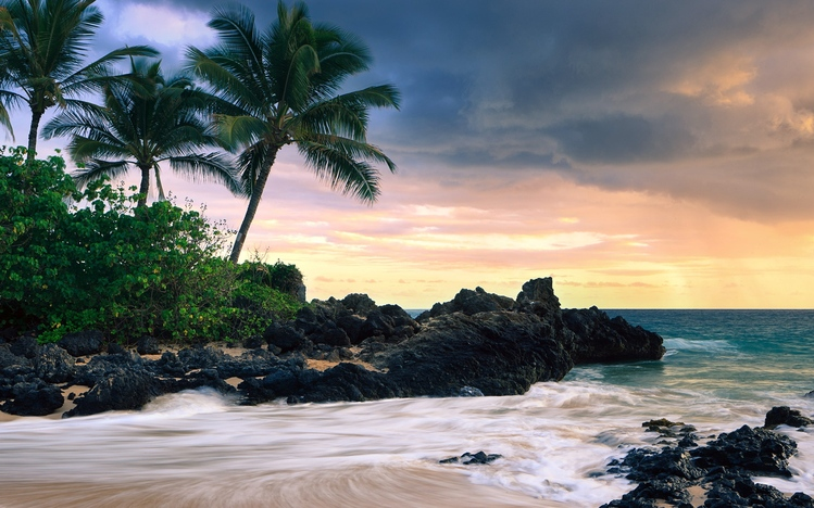 Dual Monitor Wallpaper Fall Hawaii Windows 10 Theme Themepack Me