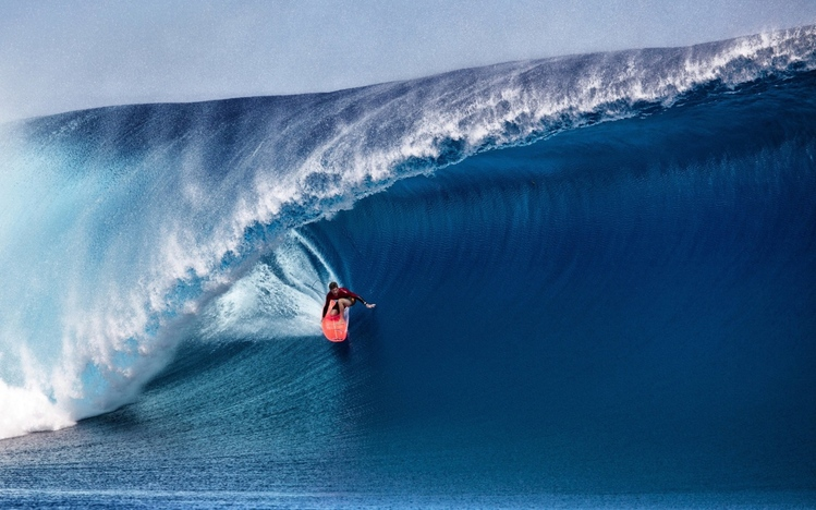 Girl On Surfboard Wallpaper Surfing Windows 10 Theme Themepack Me