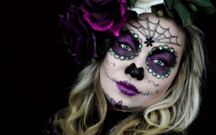 Angel Girl And Skulls Wallpaper Sugar Skull Windows 10 Theme Themepack Me