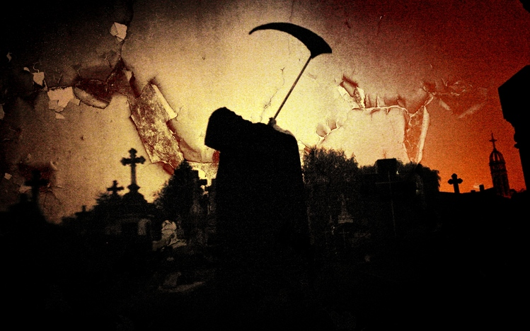 Dual Monitor Wallpaper Cool Girl Grim Reaper Windows 10 Theme Themepack Me