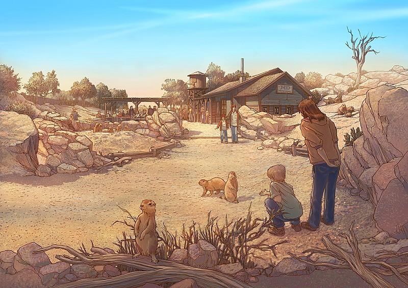 Impressie Prairiedog gebied