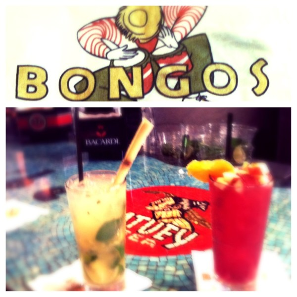 Featured drinks: Pineapple Mojito and Sangria