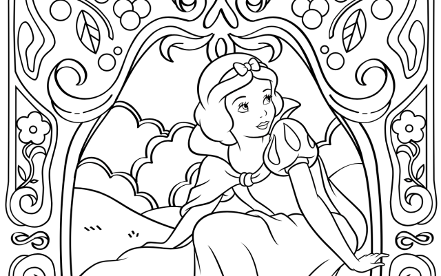 Disney Princess Coloring Pages to Print or Do Digitally - Theme